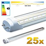 25x LEDVero SMD LED Röhre/Tube Leuchtstoffröhre T8 G13 transparentes Gehäuse - 60 cm, 8 W, neutralweiߟ 4500K, 800lm- ultraleicht & bruchfest