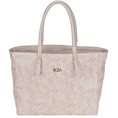 Boca [S Leather Handbag 41X29X11CM Snake Nude