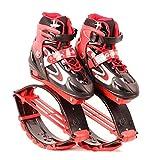 GxYue Unisex Fitness Bounce Schuhe - Jump Schuhe für Kinder Erwachsene - Anti-Schwerkraft-Laufstiefel zum Tanzen, Laufen, Basketball usw. Jump (Color : Rot, Size : M)