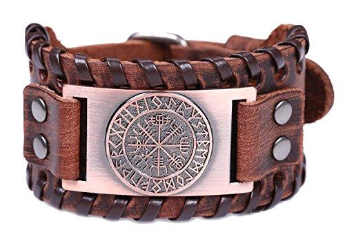 VASSAGO - Pulsera con Hebilla de cinturón Estilo Vintage, Estilo Vintage, Estilo Vintage, Color marrón