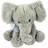 "11"" Plush Super Soft Elephant Teddy Bear Cuddling Baby Gift Toy with Ribbon"