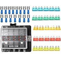 Plat Firm 12V ~ 32V 10-Wege-Blade-Sicherung Connector Box LED Warnleuchte Kit Set für Auto Boot preisvergleich bei billige-tabletten.eu