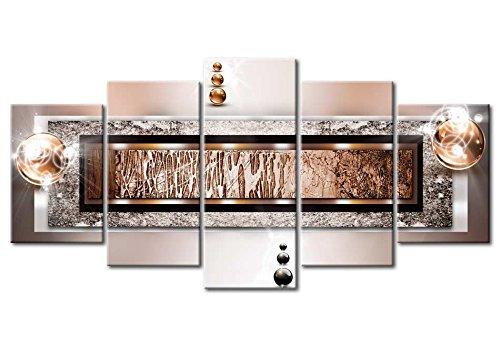 murando - Acrylglasbild Abstrakt 200x100 cm - 5 Teilig - Glasbilder - Wandbilder XXL - Wandbild - Bilder a-C-0032-k-p - 6