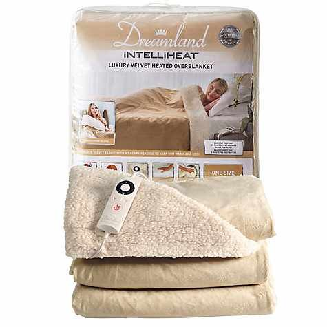 DREAMLAND 16327 INTELLIHEAT HEATED THROW LUXURY ELECTRIC OVERBLANKET, CHAMPAGNE Best Price and Cheapest
