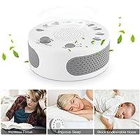 White Noise Machine, Weißes Rauschen Maschine Tragbar mit 9 Beruhigender Geräuschen 3 Timer-Einstellungen, Sound... preisvergleich bei billige-tabletten.eu