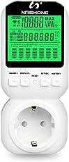 NASHONE Energiekostenmessgerät/Stromverbrauchszähler / Energiemessgerät/KWh Zähler/Strommessgerät / Wattmeter/Stromzähler Steckdose. 3680W