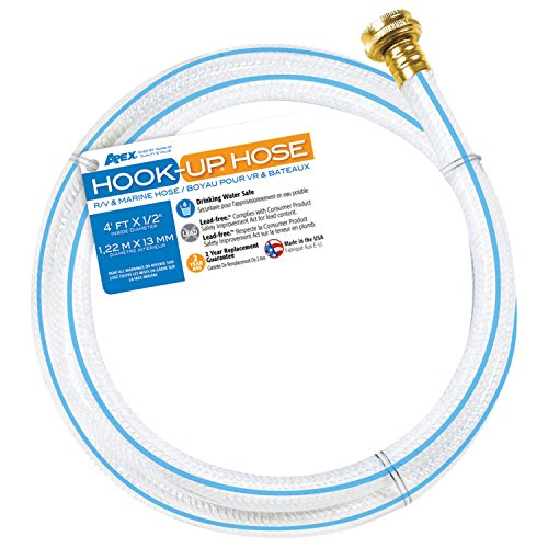 """Teknor Apex 7533-4 Hook Up Hose - 1/2"""" x 4'"""