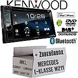Mercedes E-Klasse W211 Lenkrad Most CanBus - Autoradio Radio Kenwood DDX4018DAB - 2DIN Bluetooth   DAB+ Digitalradio   DVD   USB   CD   MP3 - Einbauzubehör - Einbauset