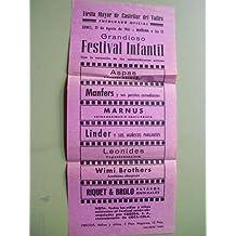 Programa - Program : FIESTA MAYOR 1961 - CASTELLAR DEL VALLES - Festival Infantil