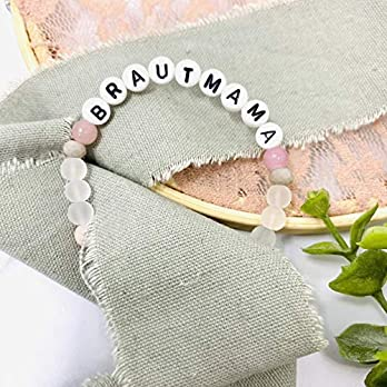 Armband Brautmama Jade pastell rosa