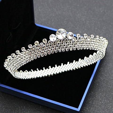 Cristal de diamant de la Couronne Couronne Couronne ornements bijoux de mariage,décoration gâteau Vingt-trois