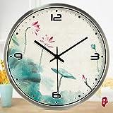 WCUI Relojes Y Relojes Reloj De Pared Reloj De La Sala De Lotus Reloj De Cuarzo Reloj Qinglian Dormitorio Mute Reloj De Pared Seleccione ( Color : #1 , Tamaño : 30cm )