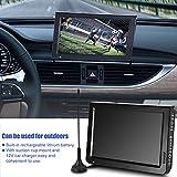 Richer-R 10 Zoll Tragbarer DVB-T/T2 Fernseher, 1024X600 Digital Fernsehen ATSC Portable 1080P Video HDTV mit HDMI/VGA/AV/USB/TF/SD Schnittstelle für Home Auto Küche Schwarz(EU-Plug)