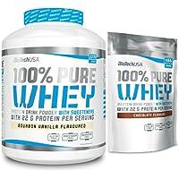 Preisvergleich für BiotechUSA 100% Pure Whey Protein Shake 2724g - 2270g Dose + 454g Beutel im Set- Hoher Proteingehalt: 78% - inkl...