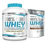 BiotechUSA 100% Pure Whey Protein Shake 2724g - 2270g Dose + 454g Beutel im Set- Hoher Proteingehalt: 78% - inkl. eBOOK von Allpro24 (Schokolade)