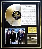 U2/ CD GOLD DISC UND PHOTO UND SONG SHEET DISPLAY/LIMITIERTE AUFLAGE/COA/ALBUM THE JOSHUA TREE /SONG SHEET I STILL HAVEN'T FOUND WHAT I'M LOOKING FOR