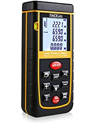 Tacklife Advanced Laser-Entfernungsmesser Distanzmessger?t Messgenauigkeit: ¡À2mm mit LCD Hintergrundbeleuchtung, Staub- und Spritzwasserschutz IP 54)