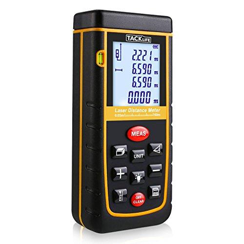 Tacklife Advanced A-LDM02 60 Laser Entfernungsmesser Distanzmessgerät (Messbreich 0,05~60m/±2mm mit LCD Hintergrundbeleuchtung, Staub- und Spritzwasserschutz IP 54)
