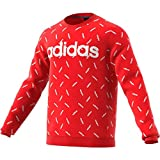 adidas Allover Print Sweat-Shirt Homme, Active Red/White, s