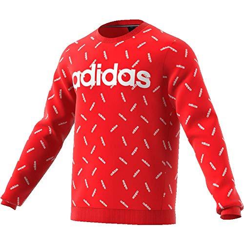 adidas Herren Allover Print Sweatshirt, Active Red/White, XXL -