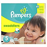Pampers Swaddlers Diapers Super Pack, Size 5, 62 Count by Procter & Gamble - Pampers