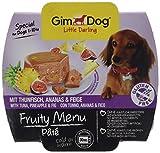 Gimdog Futter – Little Darling Fruity Menu Paté mit Thunfisch, Ananas & Feige – Für Hunde bis 10 kg – Glutenfrei – Hundefutter Ohne Künstliche Aromen & Farbstoffe – Hundenassfutter 800g (8 x 100g)