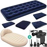 Deuba Luftbett Set mit elektrischer Luftpumpe Luftmatratze | Maße: 191 x 137 x 22 cm | Luftpumpe mit 3 verschiedenen Adaptern