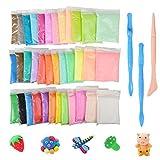 DIY Fluffy Slime Kit, Togather 36 Farben DIY Fluffy Schleim Set Knete für Kinder Erwachsene, Entspannung Anti Stress Spielzeug