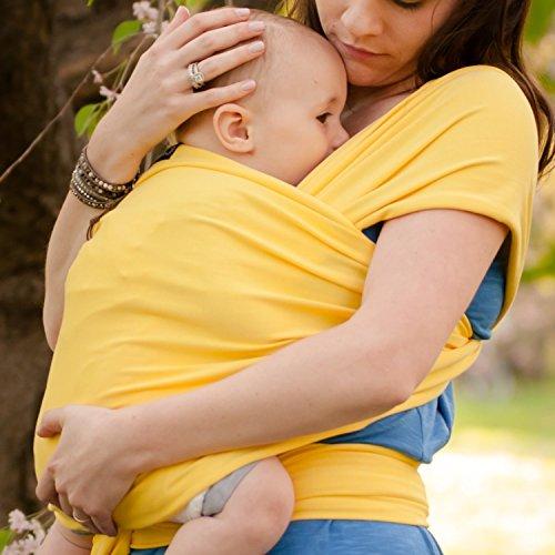 Babytragetuch – CuddleBug Babytrage – mit Gratisversand – Baby Carrier Sling – tragetuch baby (gelb)