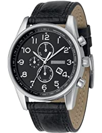 Fossil herren armbanduhr xl analog leder schwarz fs4745