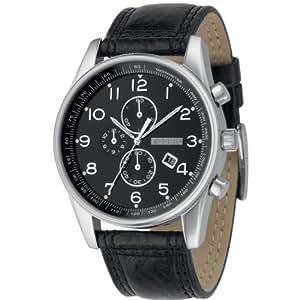 Fossil - FS4310 - Montre Homme - Quartz Analogique - Montre en Acier - Bracelet Cuir Noir - Chronographe - Dateur