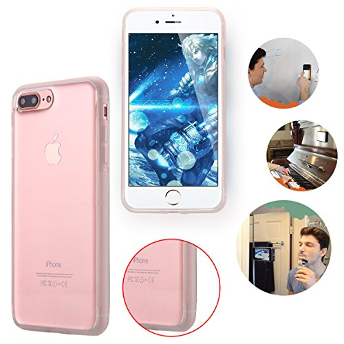 Custodia iPhone 8 Plus,iPhone 8 Plus case,Custodia iPhone 7 Plus,iPhone 7 Plus case, Snewill Anti-Gravity Selfie Case For iPhone 8 Plus/iPhone 7 Plus(5.5 inch), Hands Free Nano Suction Stick to Glass, Crystal