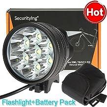 SecurityIng 8000LM 7x lb-xl T6LED brillante luz de bicicleta + 8000mAh batería Pack
