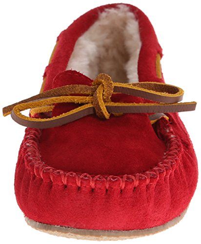 Minnetonka W Cally Slipper, Pantofoleda Donna Rojo (Red)