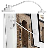 Keepwin Fenstersicherung Sicherheitskabel mit Schloss für Fenster - Kindersicherung Child Baby Safety Security Cable Lock Catch Wire - Für Fenster und Türen Fenstersicherungen (Weiß)