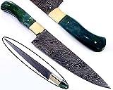 Handgefertigte Damaststahl Küchenmesser Damast Messer. Gesamtlänge für Hobby und Profi. Chef Knife. 21590