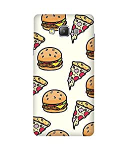 Pizza Burger Back Cover Case for Samsung Galaxy A7
