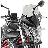 Cúpula Moto Kawasaki ER-6n 09-11 Givi ahumado oscuro + Kit de montaje