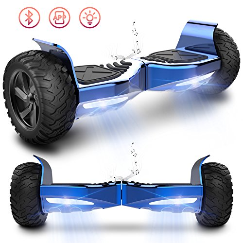 Markboard Hoverboard Hummer SUV 8.5 pouces, Gyropode Tout-Terrain 700W, Fonction App, Smart Scooter Électrique Auto-équilibrage(bleu)