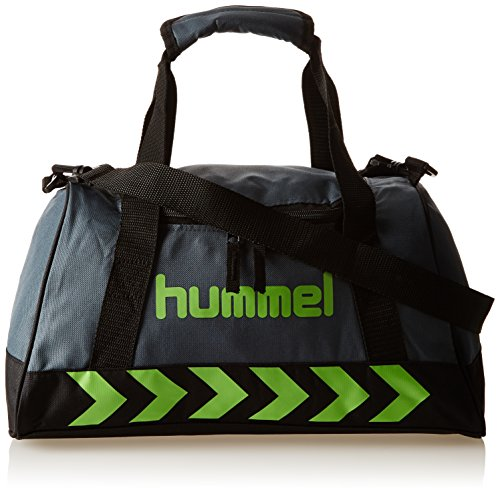 Hummel Authentic - Bolsa Deporte Bag Gris Dark Slate/Green