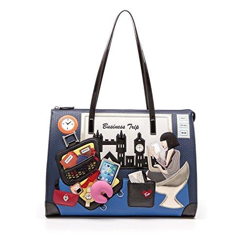 """Shopping Braccialini linea""""Cartoline"""" artB10777 collezione autunno/inverno 2016"""