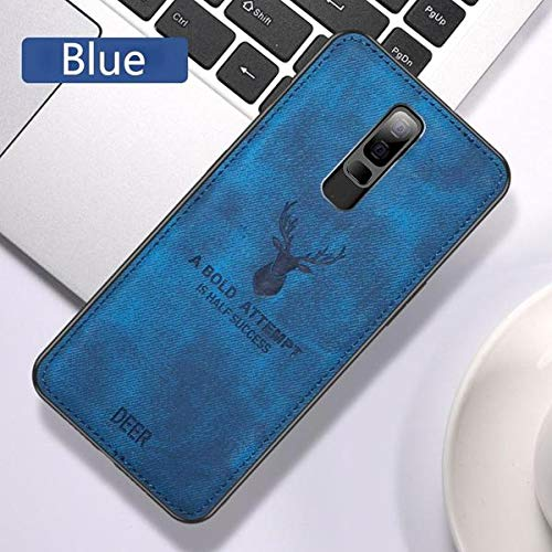 COVERS WALE Deer Case Anti Slip Grip and Camera Protection Back Cover for OnePlus 7 Pro (Blue)