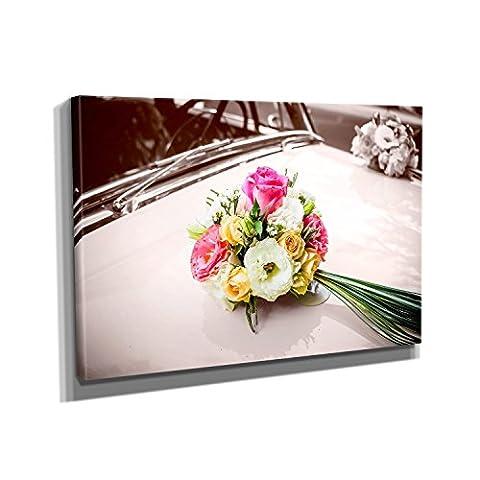 Bridal Car - Kunstdruck auf Leinwand (60x40 cm) zum Verschönern Ihrer Wohnung. Verschiedene Formate auf Echtholzrahmen. Höchste Qualität.