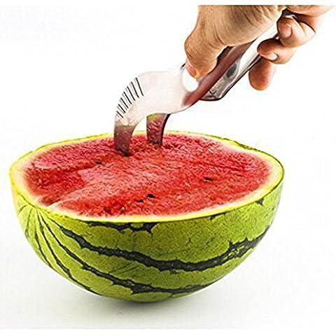 Da.Wa Anguria Affettatrice, Watermelon Slicer/ Anguria Fette in Acciaio Inox Affettatrice Corer Anguria Lama Della Frutta Peeler