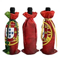 Portugal Portuguese Flag Christmas Wine Bottle Cover Red Wine Gift Bags Champagne Xmas Home Dinner Party Table Decoration