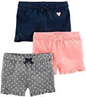 Simple Joys by Carter's Kleinkind Mädchen 3er-Pack Strick Shorts
