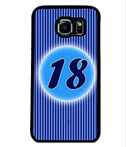 Fuson 2D Printed Numerology Designer back case cover for Samsung Galaxy S6 Edge - D4236