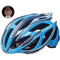 Bike Helmet 53-62cm Xagoo con costruito in luce LED (Mens Comfort Nucleo)