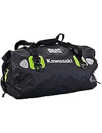 Kawasaki - Bolso de viaje  Negro schwarz grün Mittelgross 35liter