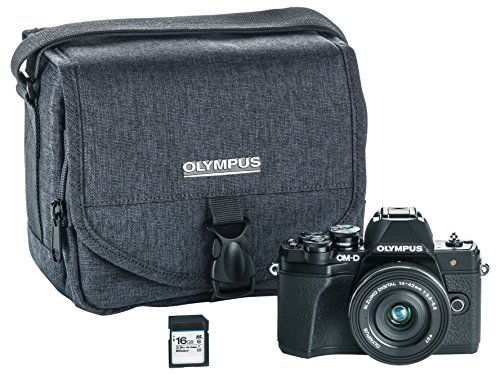 Olympus OM-D E-M10 Mark III Camera kit with 14-42mm EZ Lens (Black), Camera Bag & Memory Card, Wi-Fi Enabled, 4K Video